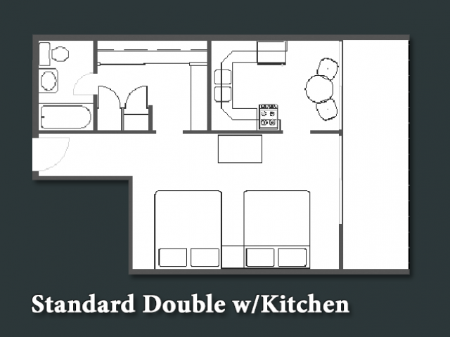 Standard Double with Kitchen